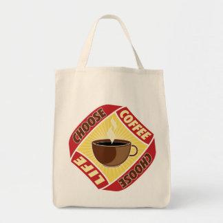 Choose Coffee, Choose Life Tote Bags
