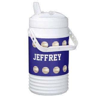 CHOOSE COLOR Beverage Cooler, Baseball, Blue Drinks Cooler