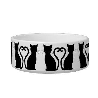 CHOOSE COLOR Black Cat Silhouette Cute Fun Girly Bowl