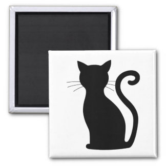CHOOSE COLOR Black Cat Silhouette Cute Fun Girly Magnet