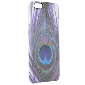 Choose Color Close Up Purple Peacock Feather Clear iPhone 6 Plus Case