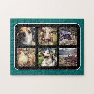 Choose Color Instagram Photo Collage Jigsaw Puzzle