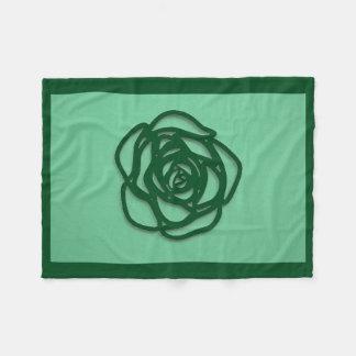 Choose Color Rose on Green Fleece Blanket