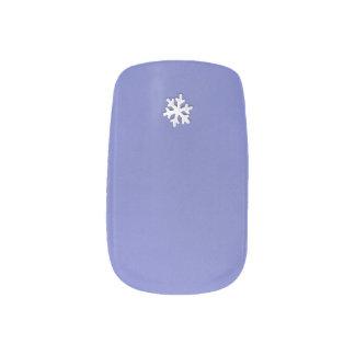 Choose Color Small Snowflake on Purple Minx Nail Art