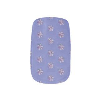 Choose Color Small Snowflakes on Purple Minx Nail Art
