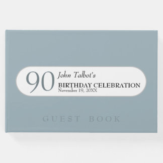 Choose Colour 90th birthday Celebration Guest Book