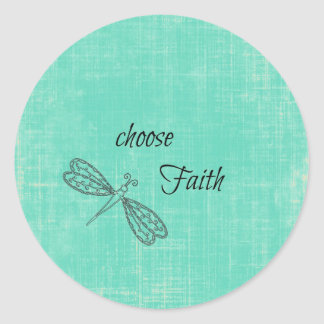 Choose Faith Inspirational Round Stickers