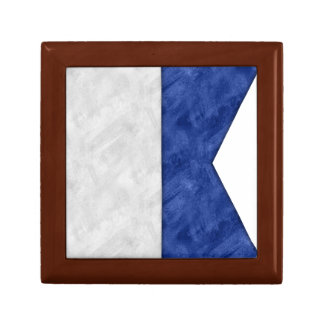 Choose from 26 Watercolor Nautical Maritime Flags Gift Box