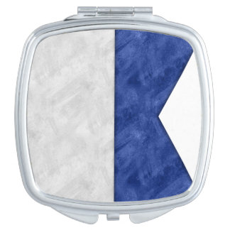 Choose from 26 Watercolor Nautical Maritime Flags Makeup Mirrors