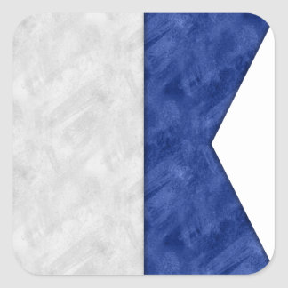 Choose from 26 Watercolor Nautical Maritime Flags Square Sticker