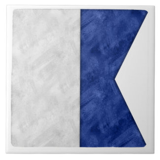 Choose from 26 Watercolor Nautical Maritime Flags Tile