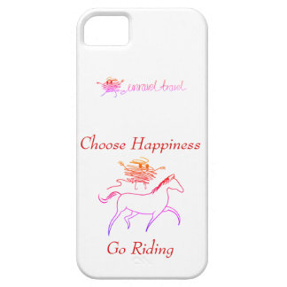 Choose Happiness - Go Riding iPhone 5 Case