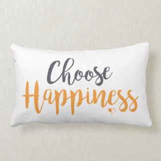 Choose Happiness Lumbar Pillow