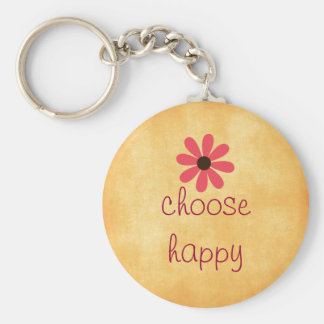 Choose Happy Affirmation Keychain