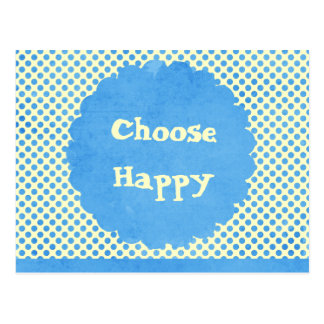 Choose Happy Affirmation Postcard