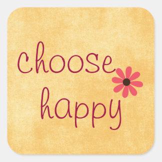 Choose Happy Affirmation Square Sticker