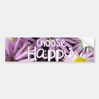 Choose Happy Bumper Sticker