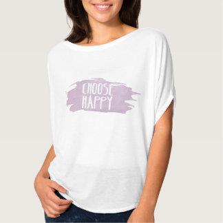 Choose Happy Watercolor Tshirt