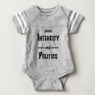 Choose Integrity over Politics gifts Baby Bodysuit