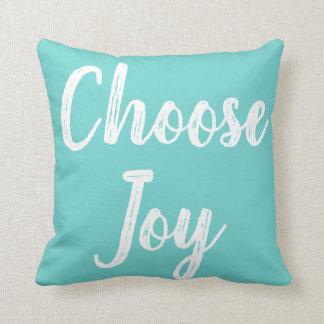 Choose Joy Modern Script Throw Pillow