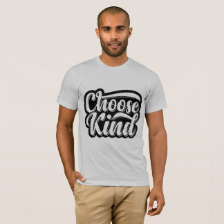 Choose kind T-shirt grey color men