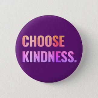 Choose Kindness Purple Pin-Back Button