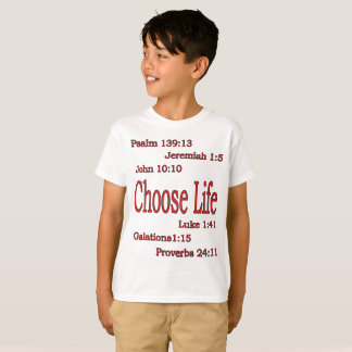 Choose Life Bible Verses Proverbs 24:11 T-Shirt