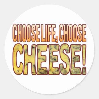 Choose Life Blue Cheese Round Sticker