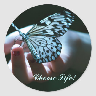 Choose Life! Classic Round Sticker