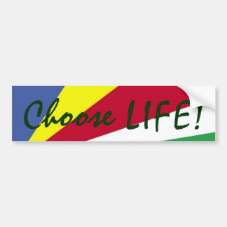Choose LIFE! Colorful Bumper Sticker