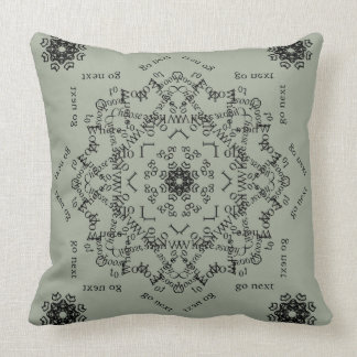 """Choose"" Mandala Pillow (Light Background)"