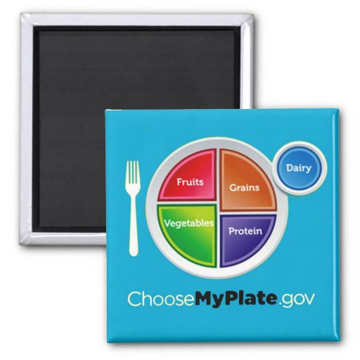 Choose My Plate (Blue) Magnet Magnets