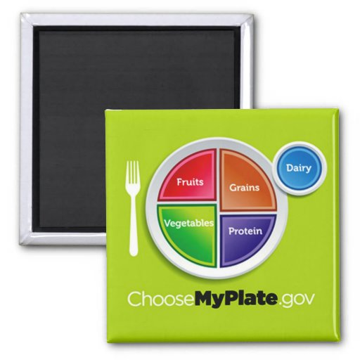 Choose My Plate (Green) Magnet Refrigerator Magnets