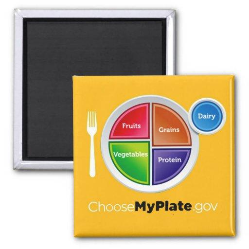 Choose My Plate (Orange) Magnet Fridge Magnet