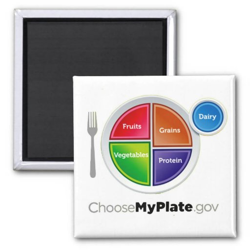 Choose My Plate (White) Magnet Refrigerator Magnets