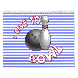 Choose start date bowling wall calendar