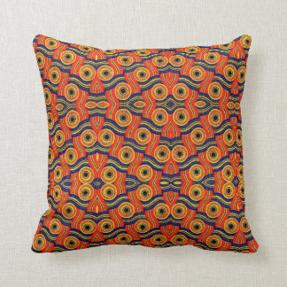 Choose The Color African Print Throw Pillow Blue