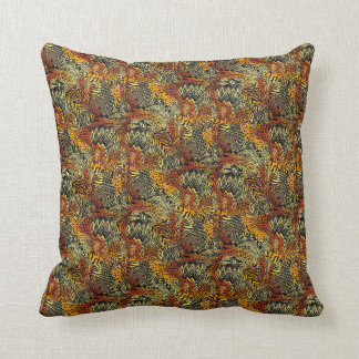 Choose The Color African Print Throw Pillow Brown