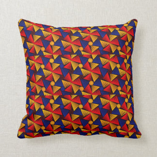 Choose The Color African Print Throw Pillow Orange