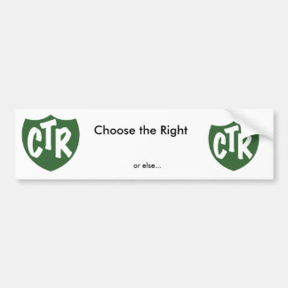 Choose the Right Bumper Sticker