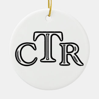 choose the right round ceramic ornament