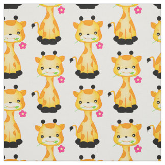 Choose your background color Giraffe fabric