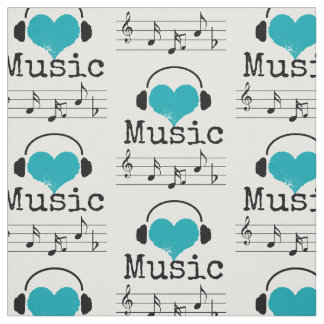 Choose your background color music lover Fabric