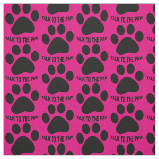 Choose your background color Paw print fabric