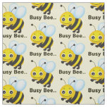 Choose your background colour busy bee fabric