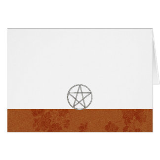 Choose Your Color Amber & Pentacle Fabric Blank Card