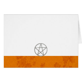Choose Your Color Autumn & Pentacle Fab. Blank Card
