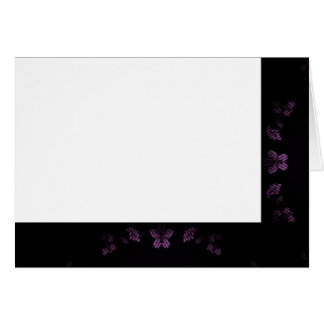 Choose Your Color Black & Lavender Fabric Blank Card