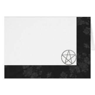 Choose Your Color Black & Pentacle Fab. Blank Card