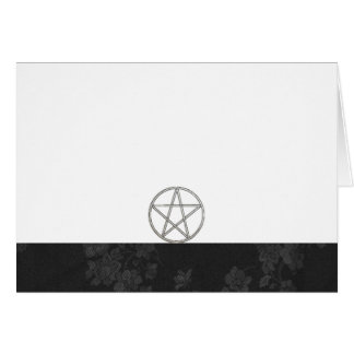 Choose Your Color Black & Pentacle Fabric Blank Card